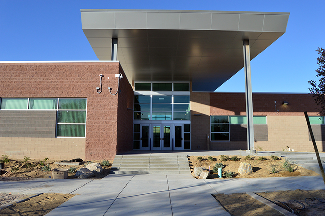 Max Lancaster/Boulder City Review Students and faculty at Boulder City High School are scheduled to move into their new offices and classrooms Jan. 2. The building features 18 classrooms, as well  ...