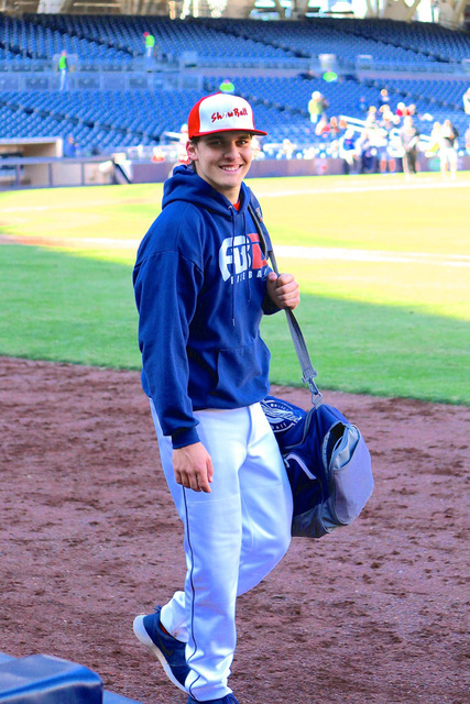 Courtesy photo After finishing the fall ball season with Amateur Baseball Development Nevada, the Show Ball Showcase earlier this month at Petco Park in San Diego got Boulder City High School seni ...