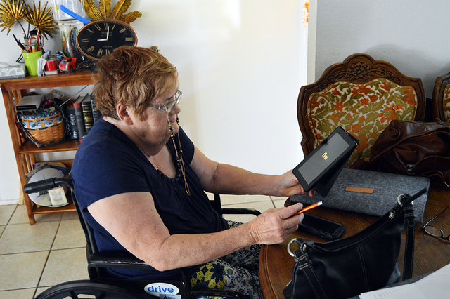 Sheryl Calvert is an avid user of the Senior Center of Boulder City's e-reader program ever since heart problems and a leg amputation made it harder for her to get out of the house and buy books ...