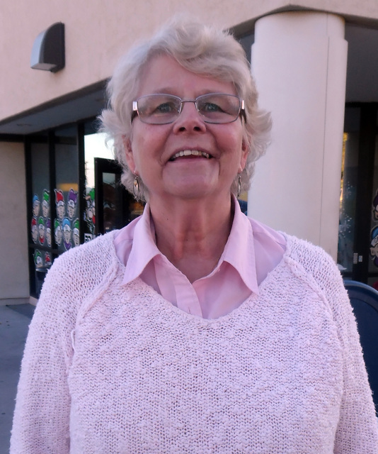 "Hunter Terry/Boulder City Review Norma Barth, a 43-year resident of Boulder City. ""I'm thankful for God, my church, Faith Christian, and my family, most of whom live here in Boulder City."""
