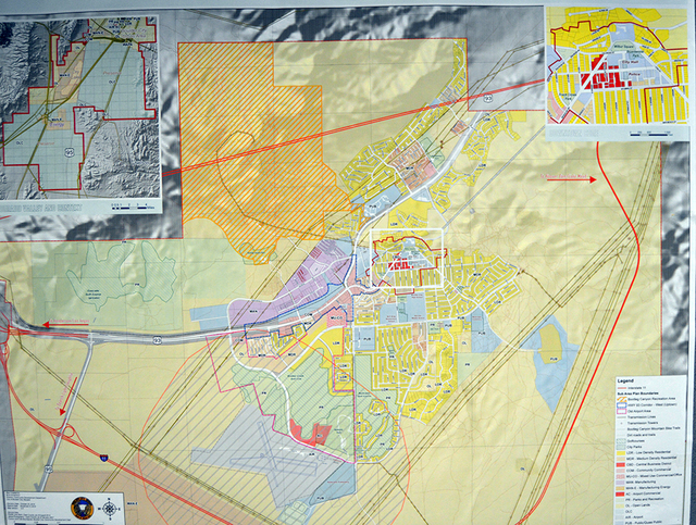 Max Lancaster/ Boulder City Review This map shows the city's most up-to-date master plan, which was last amended Oct. 25. The current master plan has been amended multiple times but has not been ...