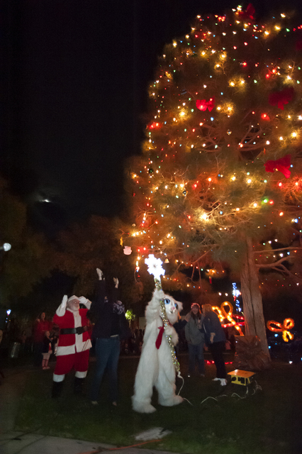 File photo Jingle Cat will be on hand to help Santa light the city's Christmas tree in Frank Crowe Park on Friday. The festivities start at 6 p.m.