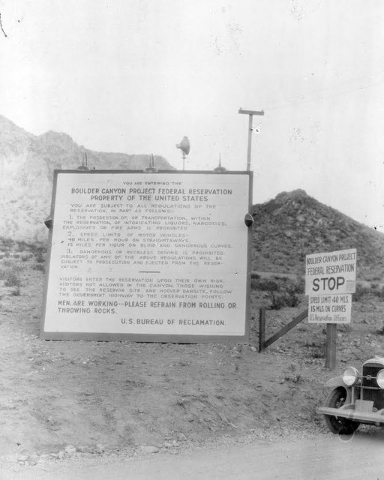 Courtesy photo A list of rules for entering Boulder City in seen in this photo from 1935. These city regulations were also listed on the back of the visitor's entrance pass.