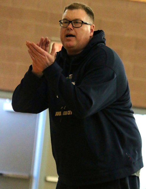 Laura Hubel/Boulder City Review Boulder City High School girls basketball coach Paul Dosch recently was diagnosed with stage 4 lung cancer. Students and the community are rallying around him with  ...