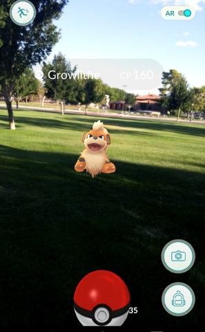 """""""Pokemon Go"""" requires players to explore the real world to find their targets, which can then be viewed and captured on their phones. Hunter Terry/Boulder City Review"""