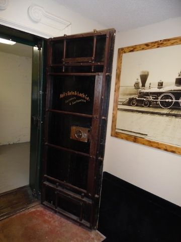 The original safe, which houses two additional safes, remains at the Railroad Pass and is open to visitors. It held payroll for railword and dam workers in the 1930s. Hali Bernstein Saylor/Boulder ...