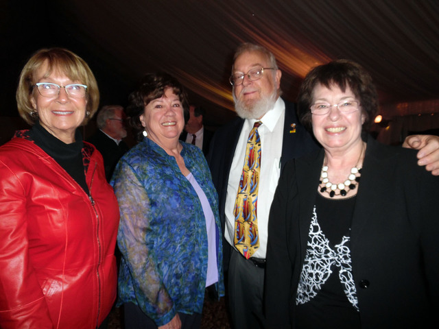 Hali Bernstein Saylor/Boulder City Review Enjoying the social period before the city's annual State of the City address Jan. 19 were, from left, Linda Faiss, Regent Andrea Anderson, who sits on th ...