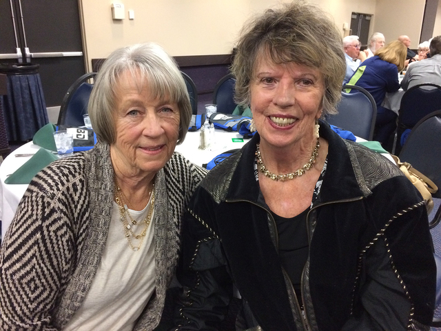 Hali Bernstein Saylor/Boulder City Review Visiting before the Boulder Dam Credit Union's annual meeting began on Feb. 15 at the Henderson Convention Center were, Lois Schuh, left, and Kathleen White.