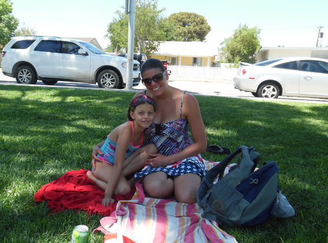 Sareya, 8, and Brooke Thomas enjoyed escaping Las Vegas and spending the holiday at Broadbent Park for their first Boulder City Damboree on Monday, July 4, 2016. Hunter Terry/Boulder City Review
