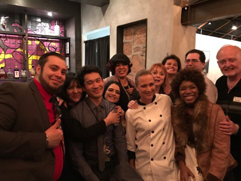 Photo courtesy Tanya Vece Staff members from Volunteers of America, Forge Social House, Sysco Foods and volunteers with the Dam Short Film Festival were on hand to greet actor Trevor Zhou, third f ...