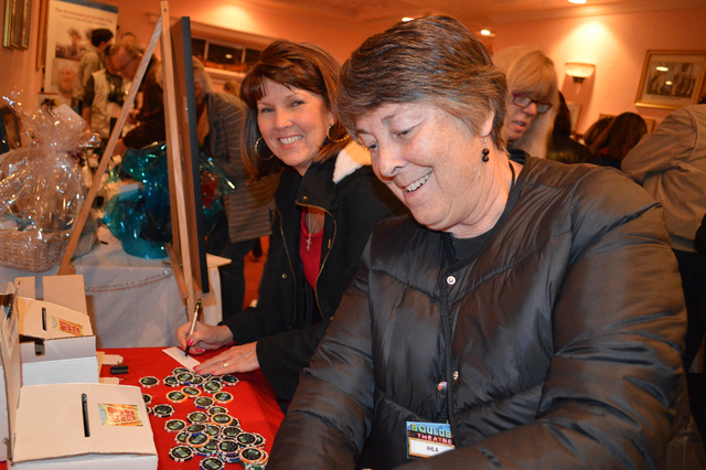 Celia Shortt Goodyear/Boulder City Review Volunteers Cathy Pontius, left, and Ihla Crowley count the last votes before the Best of the Fest on Saturday evening at the 13th annual Dam Short Film Fe ...
