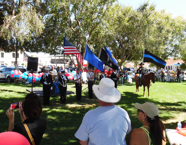 Hunter Terry/Boulder City Review Community members from Boulder City and all over Southern Nevada were in Boulder City on Saturday to thank and mingle with members of police and fire departments,  ...