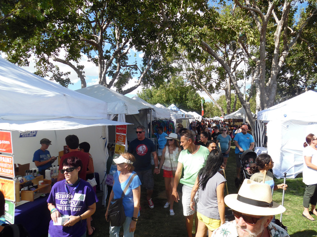 Hunter Terry/Boulder City Review The 54th annual Art in the Park festival took over downtown Boulder City on Saturday and Sunday, as people from all over Southern Nevada filled Wilbur Square, Bice ...