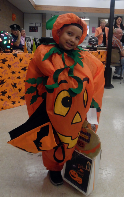 Mack Gonzales took home first place in the kindergarten and under age bracket of the costume contest Friday at the senior center's Family Fun Night. Hunter Terry/Boulder City Review