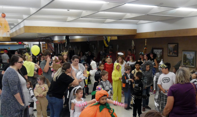 Pizza, dancing and a costume contest were all on the menu Friday during the Family Fun Night at the Senior Center of Boulder City. Hunter Terry/Boulder City Review