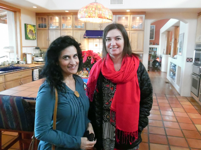 Hunter Terry/Boulder City Review Rimi Marwah, left, of Las Vegas and Alyson Pyles of Richland, Washington, were excited to see the decked out homes on the American Association of University Women' ...