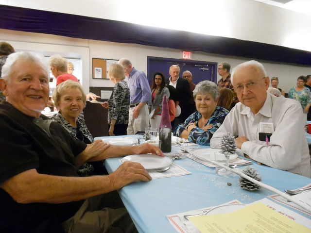Hunter Terry/Boulder City Review Ralph and Darlene Church, left, came from Henderson with fellow Minnesotans Eldora and Ed Braaten to celebrate their Scandinavian heritage at the Sons of Norway' ...