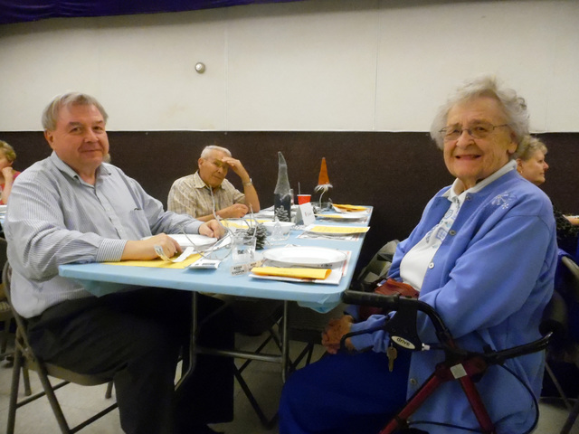 Hunter Terry/Boulder City Review Jim Nelson of Henderson and Ruth Ballis of Boulder City enjoyed the Sons of Norway's annual Lutefisk dinner on Saturday, though they warned not everyone is a fan t ...