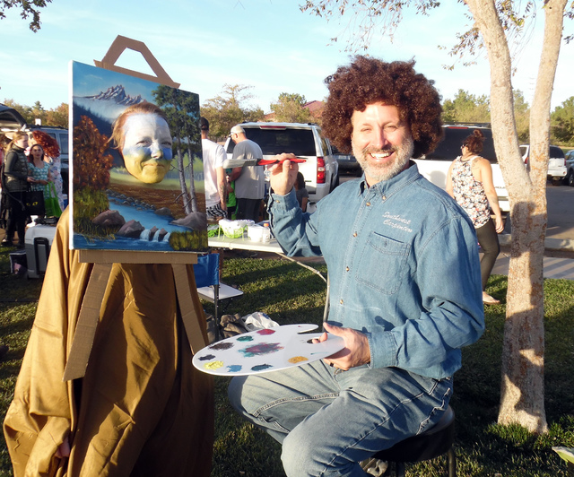 Hunter Terry/Boulder City Review Kelly and Kurt Flowers took home first place in the most original category of the Trunk or Treat costume contest Saturday in Veterans' Memorial Park. The Halloween ...