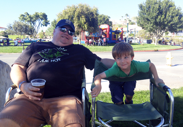 Hunter Terry/Boulder City Review Kris Burke brought 5-year-old Macklin Burke out to the 20th annual Wurstfest on Saturday and they were most excited for the live auction, one of the event's highli ...
