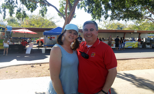 Hunter Terry/Boulder City Review Jeny and Jeff Breeden were excited to see so much of Boulder City come together at the 20th annual Wurstfest Saturday and according to Jeff, treasurer of the Bould ...