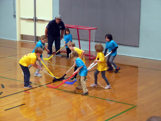 Hunter Terry/Boulder City Review Boulder City Parks and Recreation Department's youth hockey season began with its annual opening ceremony Saturday followed by the first game of the season at the  ...