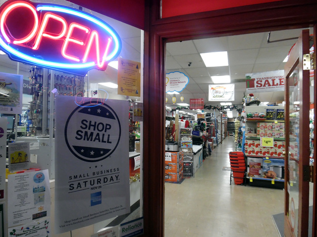 Hunter Terry/Boulder City Review Small Business Saturday is observed the day after Black Friday, giving locally owned businesses like Ace Hardware a chance to take their turn in the spotlight as t ...