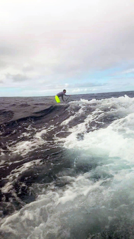 Terry Stevens, pictured, and Braly Joy teamed up to take on the 32-mile Molokai 2 Oahu Paddleboard World Chamionships in Hawaii on Sunday, July 31, 2016, finishing 16th out of more than 300 indivi ...