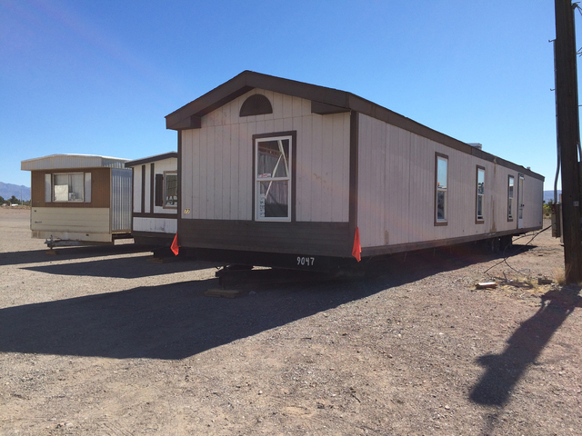 File photo Trailers are being moved out of the Boulder City Mobile Home Park at 1501 Nevada Highway to make way for a townhome development. After the Planning Commission approved a variance for th ...