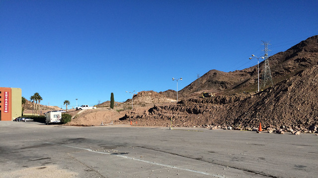 Hali Bernstein Saylor/Boulder City Review Excavation has begun on the upper parking lot at Railroad Pass casino, as seen on Wednesday, to make way for a $10 million travel center.