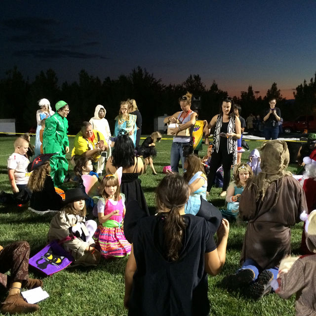 File photo Children await the results of the costume contest during a previous Trunk or Treat in Veterans' Memorial Park. This year's event, presented by the Boulder City Chamber of Commerce, will ...