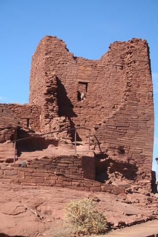 Wukoki Pueblo is one of the best preserved in the Wupatki National Monument and was thought to have been occupied from 1120 to 1210. Photo courtesy Deborah Wall