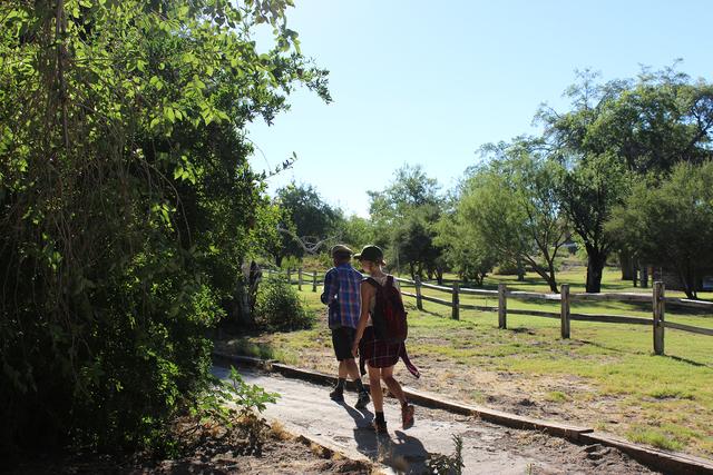 Photo courtesy Deborah Wall Corn Creek in the Desert National Wildlife Refuge has 1 1/2 miles of interconnecting trails.