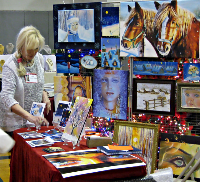 Courtesy photo Tamara Geddes was among the dozens of vendors with booths at last year's Winter ArtFest presented by the Boulder City Art Guild. The annual event returns from 9 a.m. to 5 p.m. Sat ...