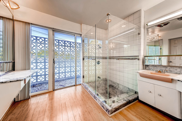 The bathrooms in the home at 541 Avenue M feature marble that came from the original Clark County courthouse. Courtesy photo