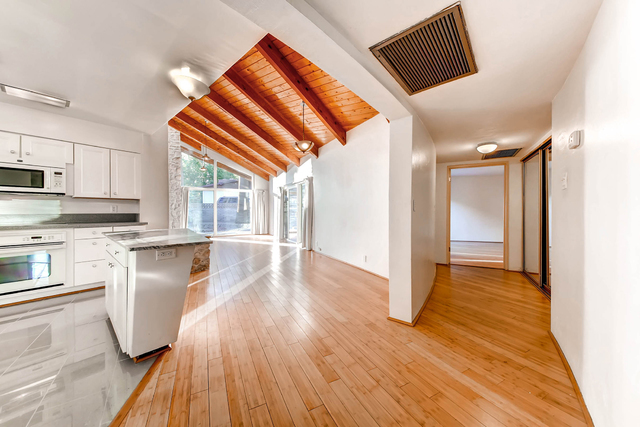 The home at 541 Avenue M features vaulted ceilings and curved walls designed to avoid square corners, a hallmark of Frank Lloyd Wright's design style. Courtesy photo