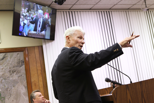 File photo Bill Conger, seen in this February 2014 photo, resigned suddenly as chief of police administration for Boulder City after it was learned he knew about the actions of the former animal s ...