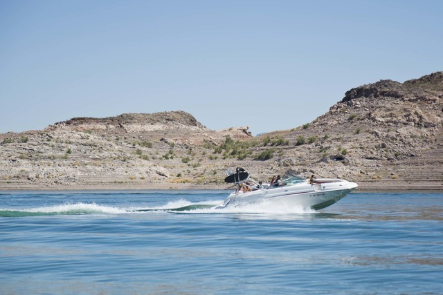 Las Vegas Review-Journal file photo A group of visitors enjoy a day on Lake Mead earlier this year. The national recreation area is helping mark the National Park Service's 100th birthday and is o ...