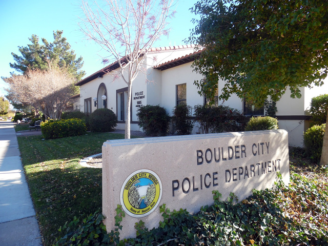 The Boulder City Police Department, 1005 Arizona St. Hunter Terry/Boulder City Review