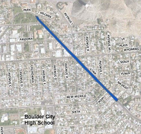Courtesy This map shows the Utah Street Reconstruction Project. The project, which will feature newly paved roads, is set for completion in February.