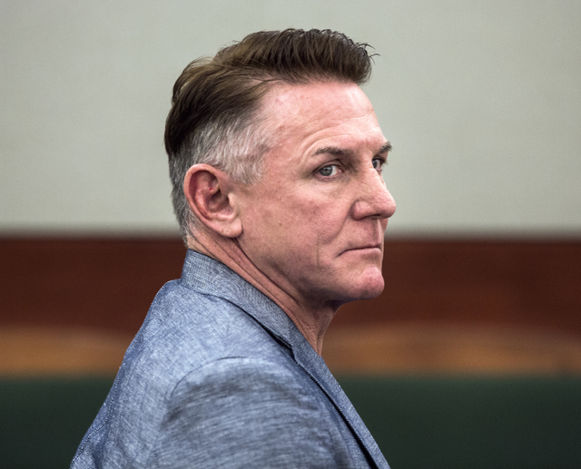 "Jeff Scheid/Las Vegas Review-Journal Follow @jeffscheid Gregory ""Brent"" Dennis, seen during a hearing at Regional Justice Center on Nov. 17, seeks to halt civil litigation against him over the Jan ..."