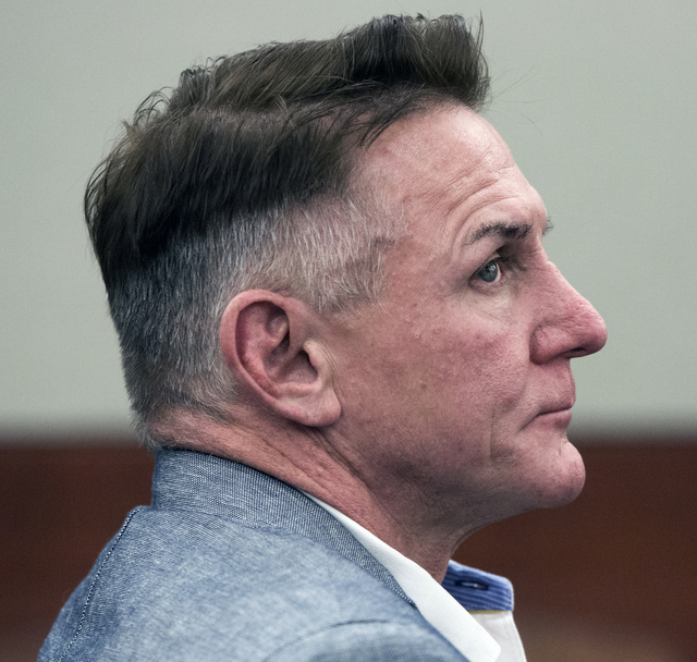 """Jeff Scheid/Las Vegas Review-Journal Gregory """"Brent"""" Dennis sits during a civil litigation hearing at Regional Justice Center on Dec. 7. Dennis is accused in the January 2015 death of his wife, at ..."""