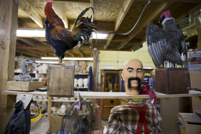 Erik Verduzco/Las Vegas Review-Journal The Characters Unlimited workshop in Boulder City is filled with characters in various stages of construction.
