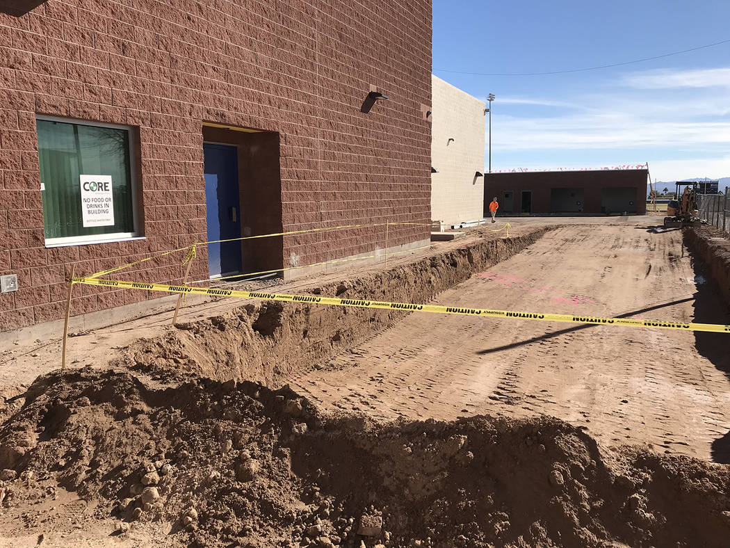 Hali Bernstein Saylor/Boulder City Review A new loading dock is part of the third phase of renovations at Boulder City High School. It is at the back of the new theater arts facility. On Friday it ...