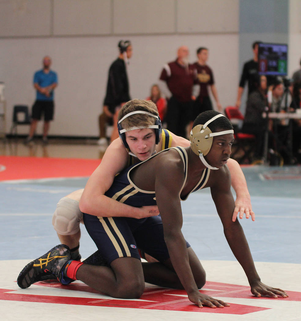Rich Viera Ladd Cox, a sophomore at Boulder City High School, won the regional title in his weight class, 145 pounds, at Saturday's tournament at Western High School.