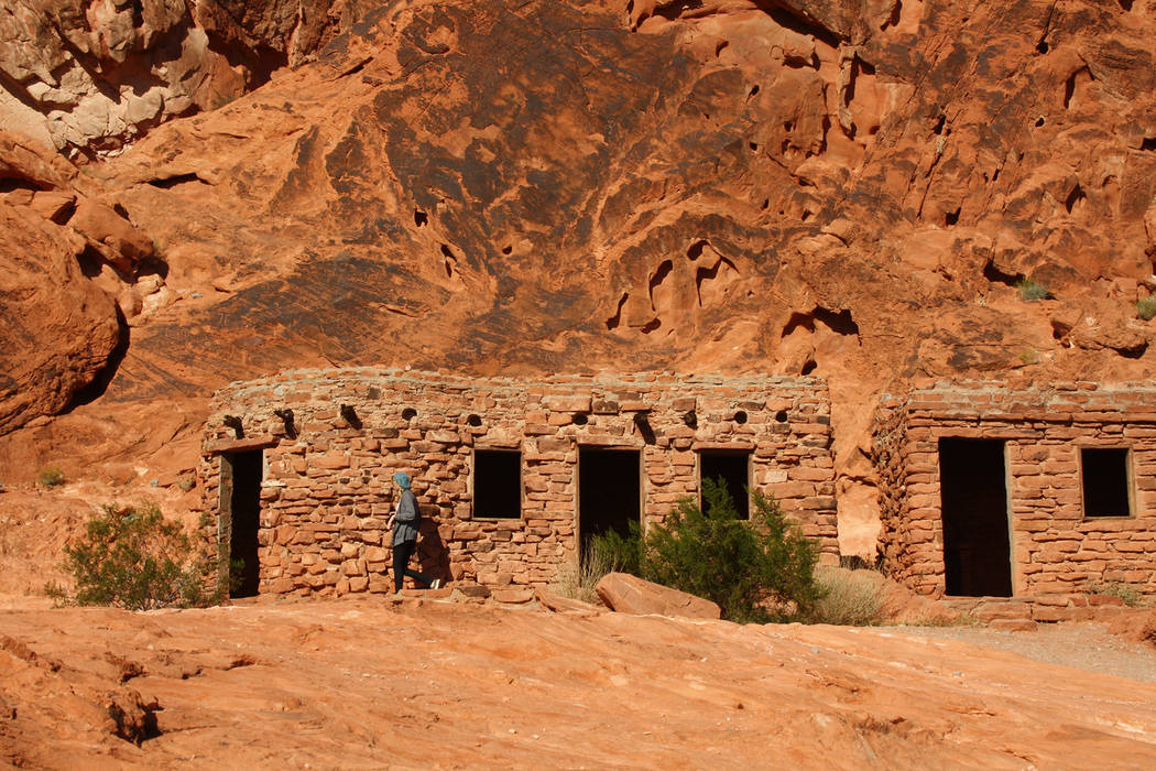 Deborah Wall The Cabins, built in 1930s by the federal Civilian Conservation Corps, blend agreeably with the red sandstone landscape of Valley of Fire State Park.