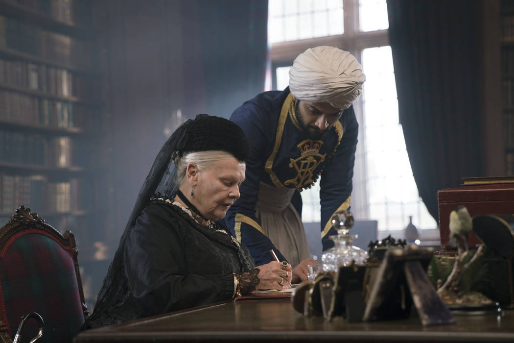 "Judi Dench, left, stars as Queen Victoria and Ali Fazal stars as Abdul Karim in director Stephen Frears' ""Victoria and Abdul,"" which will be shown at 5:30 p.m. Friday, Feb. 16, 2018, at the Bo ..."