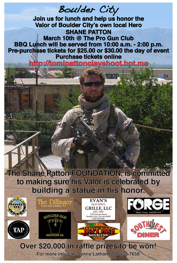 Sonny Latham All proceeds from lunch tickets at the fifth annual Military Sporting Clay Shoot Supporting the Children of our Fallen Heroes on Saturday, March 10, will go toward a statue honoring l ...