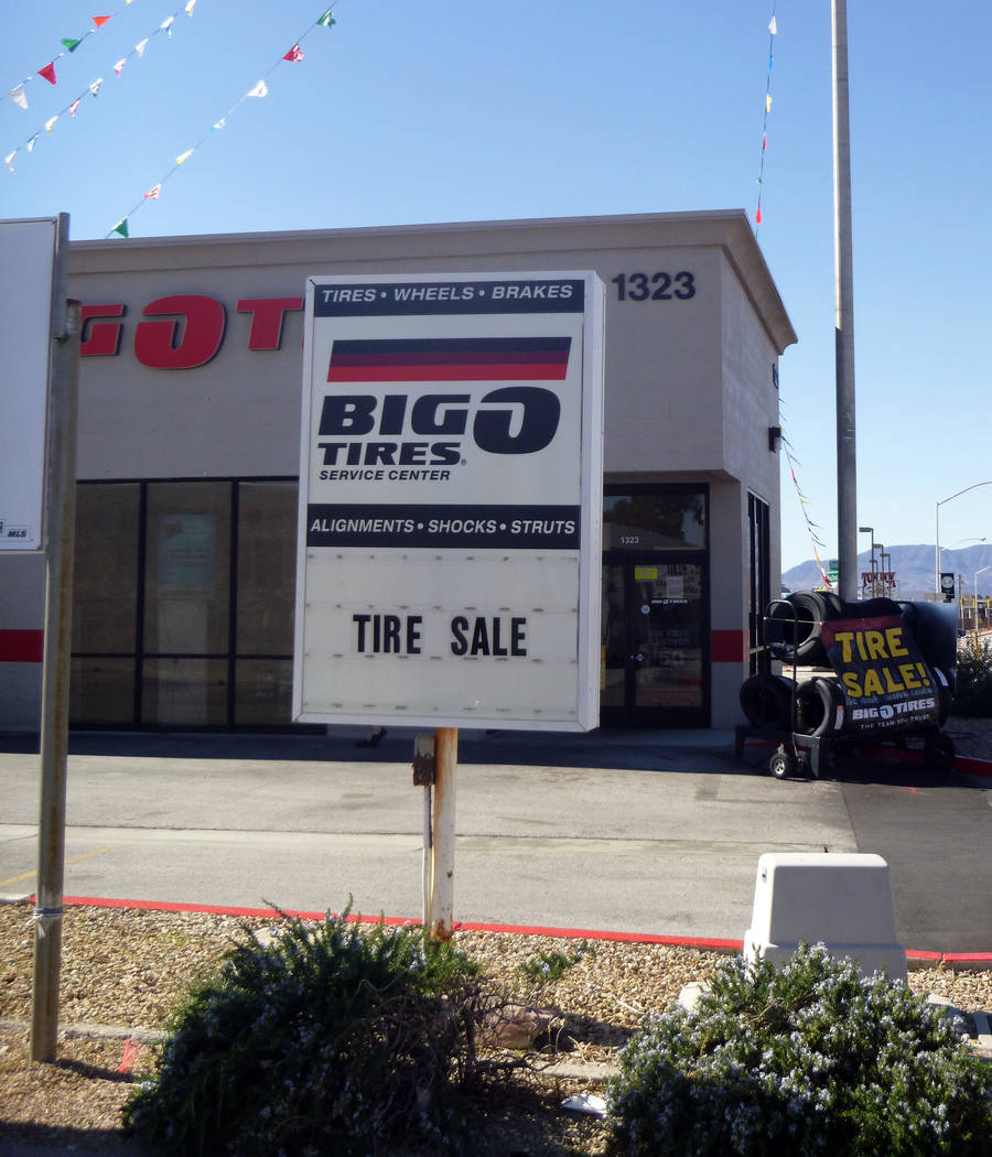Celia Shortt Goodyear/Boulder City Review The Big O Tires store at 1323 Boulder City Parkway will close Sunday.
