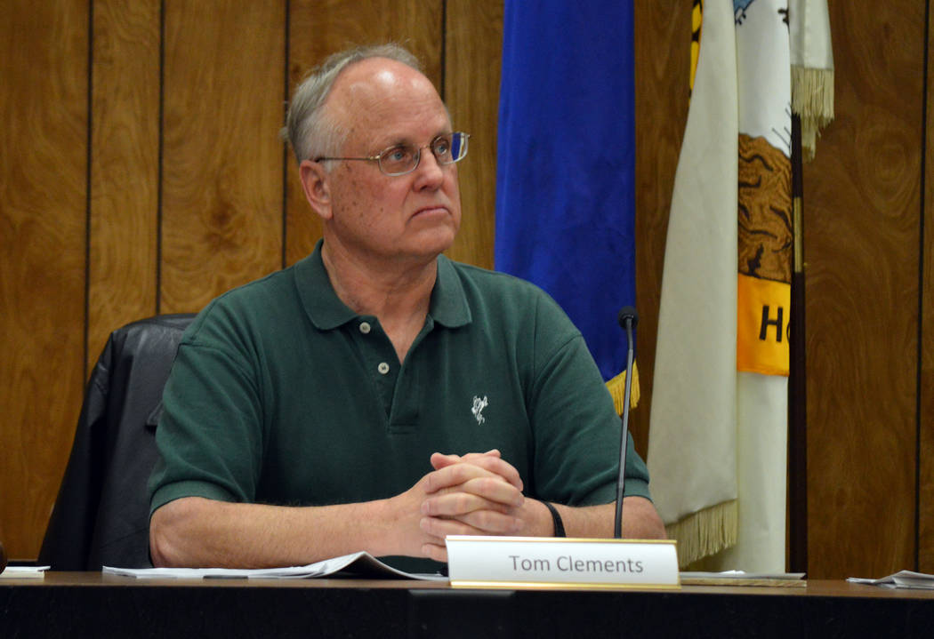 Celia Shortt Goodyear/Boulder City Review Boulder City resident Tom Clements attended his first meeting as a member of the Planning Commission on Wednesday, Feb. 21.